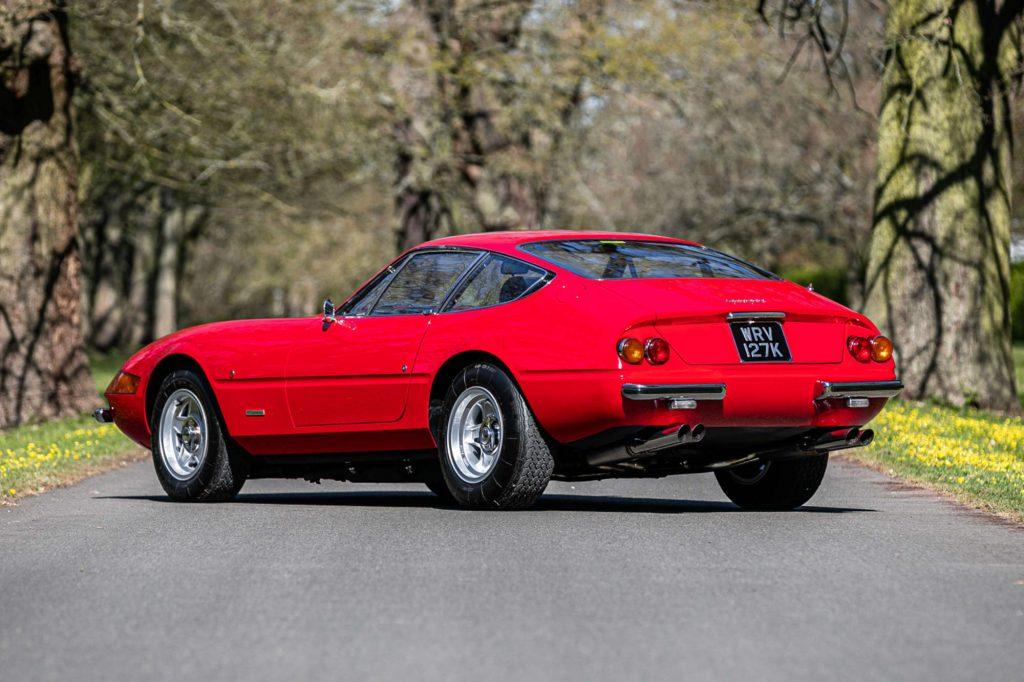 profile shot of a 1972 Ferrari 365 GTB/4