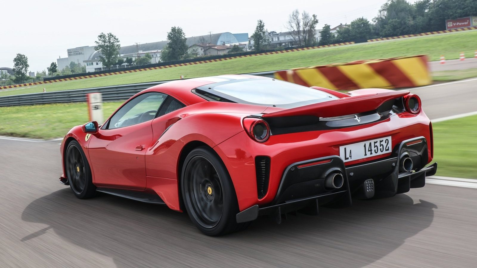 An image of a Ferrari 488 Pista out on a track.