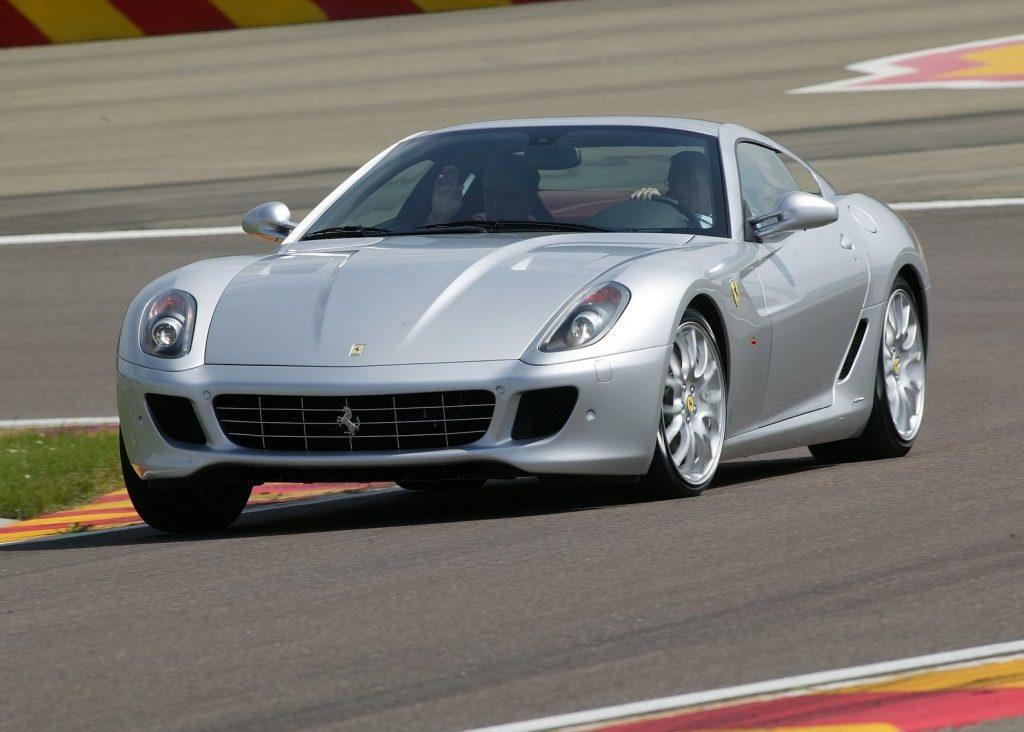 a silver 2007 Ferrari GTB Fioriano