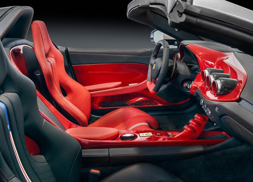 An image of a Ferrari F60 America in a photo studio.