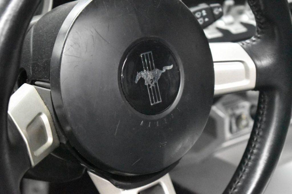 First running Ford GT prototype Mustang steering wheel