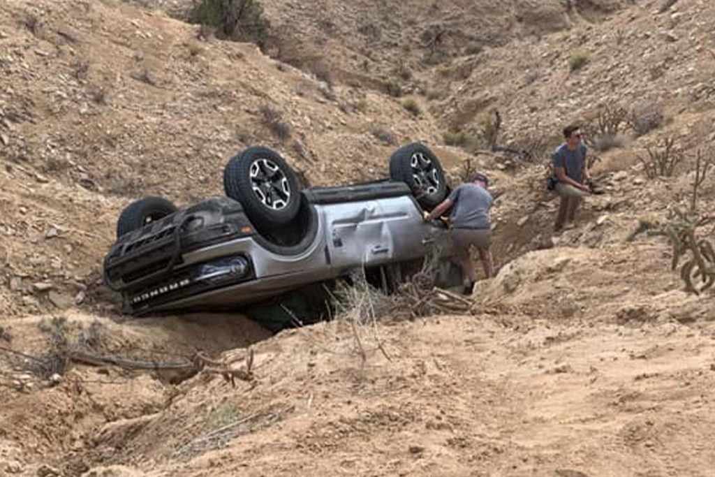 2021 Ford Bronco Sport rolled down a hill