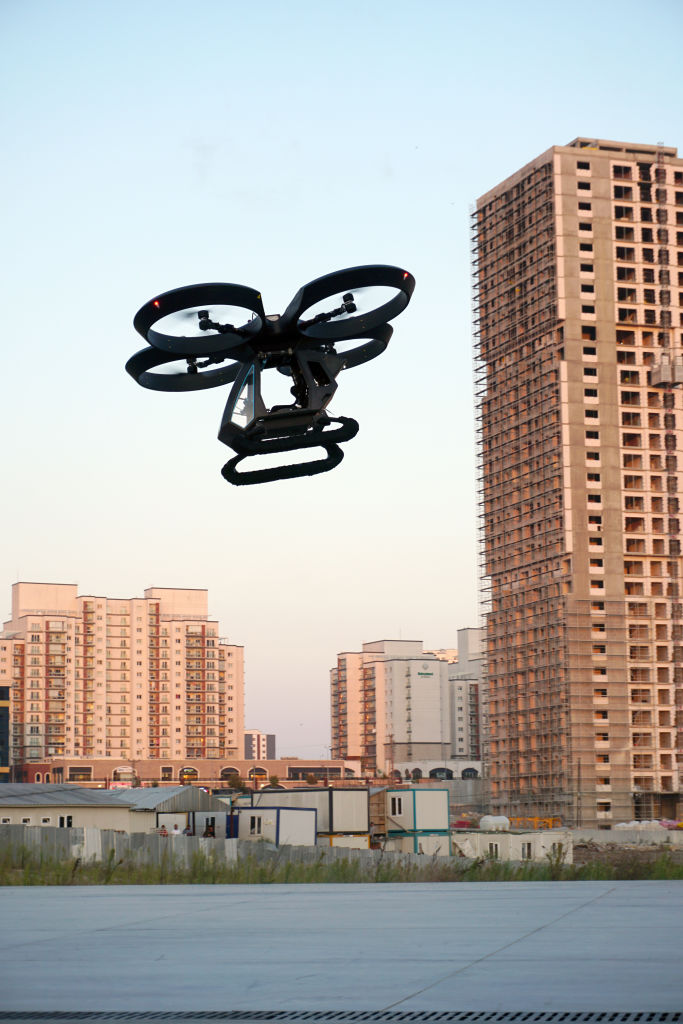 Flying Taxi in the air