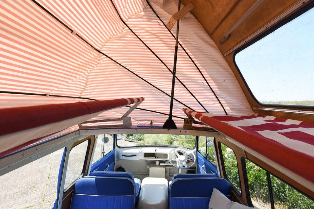 Ford Thames interior pop top hammocks