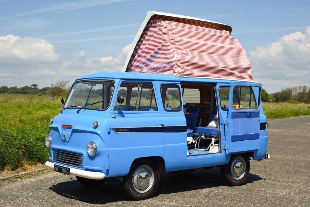This vintage ford camper van is called the Thames 400E made by Dormobile campervans