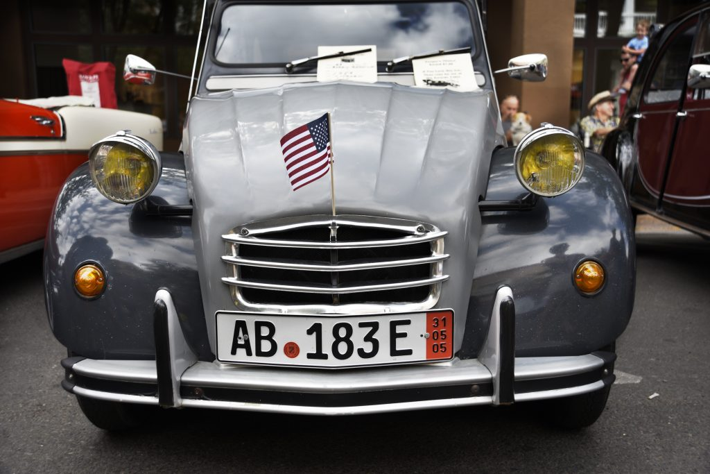 A 1986 Citroen on display at a classic car show in Santa Fe, New Mexico on the Fourth of July