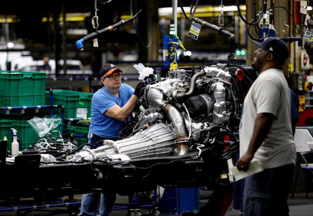GM truck assembly at Flint, Michigan