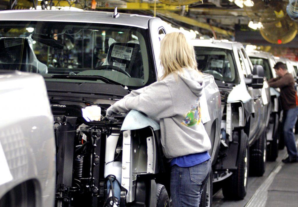 GM Flint truck assembly