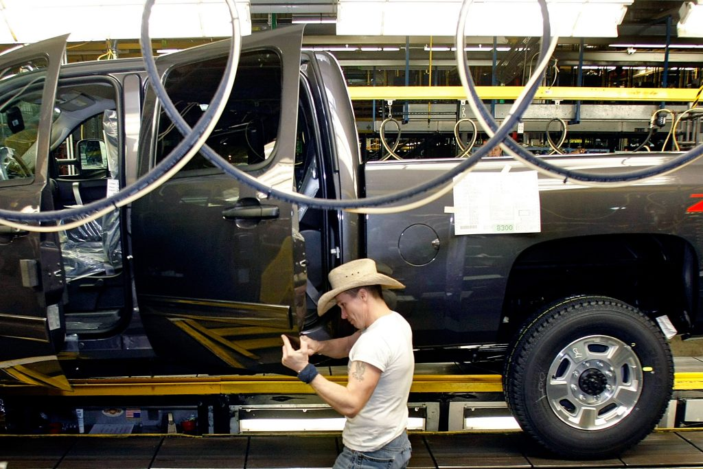 GM truck assembly