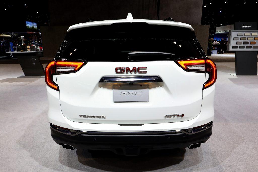 The rear of the GMC Terrain SUV