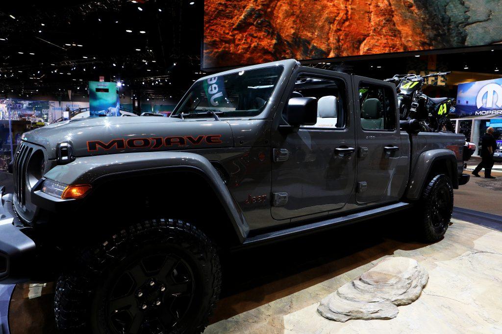 The Jeep Gladiator on display
