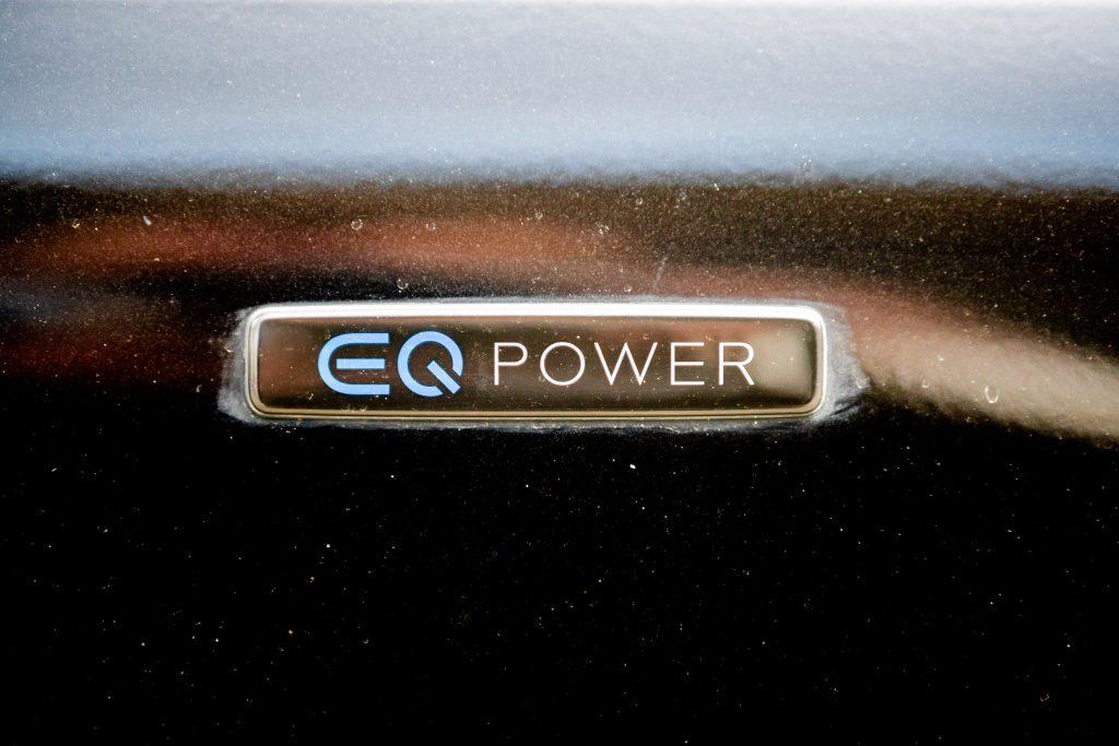 Mercedes-Benz EQ Power logo, setting EQ models apart from the rest.
