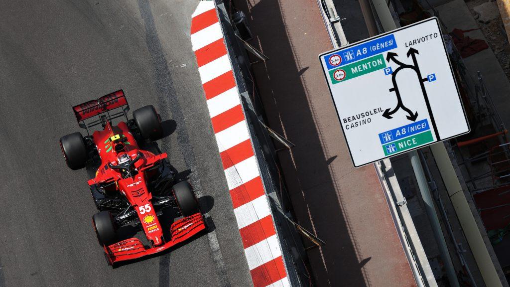 Carlos Saniz' red Ferrari Formula 1 car, pictured from above