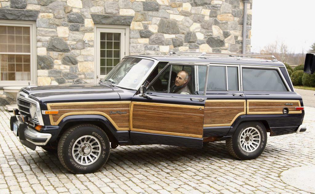 A classic, wood-paneled Jeep Grand Wagoneer