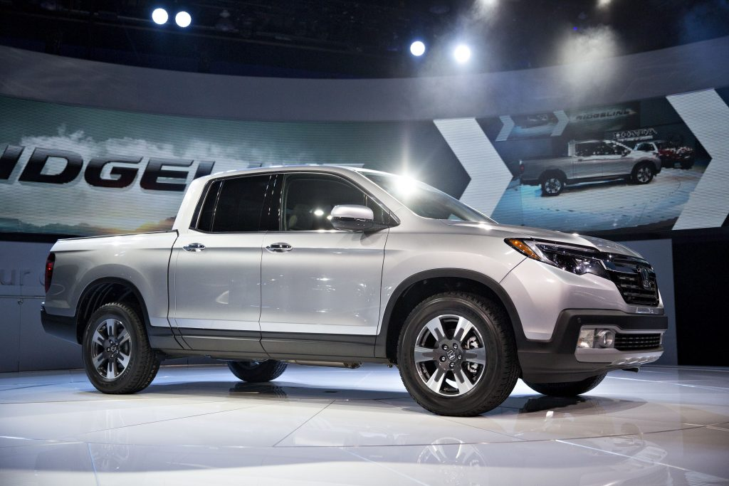 The new midsized Honda Ridgeline truck