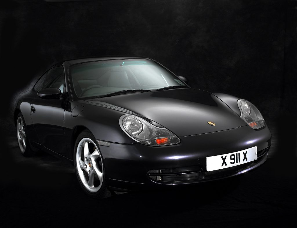 A black 996-generation Porsche 911