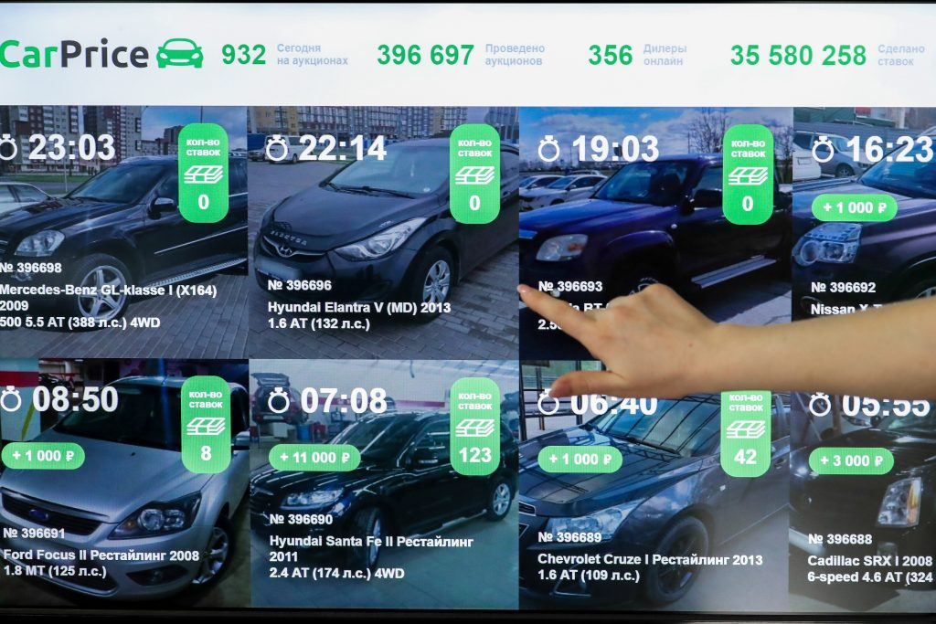 Online car auction sites are growing in popularity outside the U.S. as shown by CarPrice, a site in Russia
