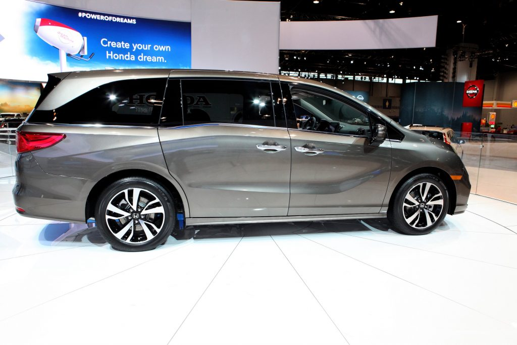 Gray 2017 Honda Odyssey is on display at the 109th Annual Chicago Auto Show at McCormick Place