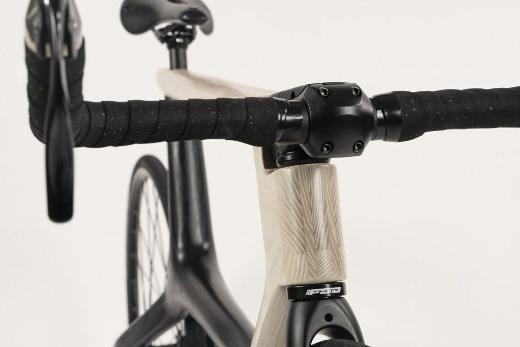 Iowa State Univ. wooden bicycle project handlebars
