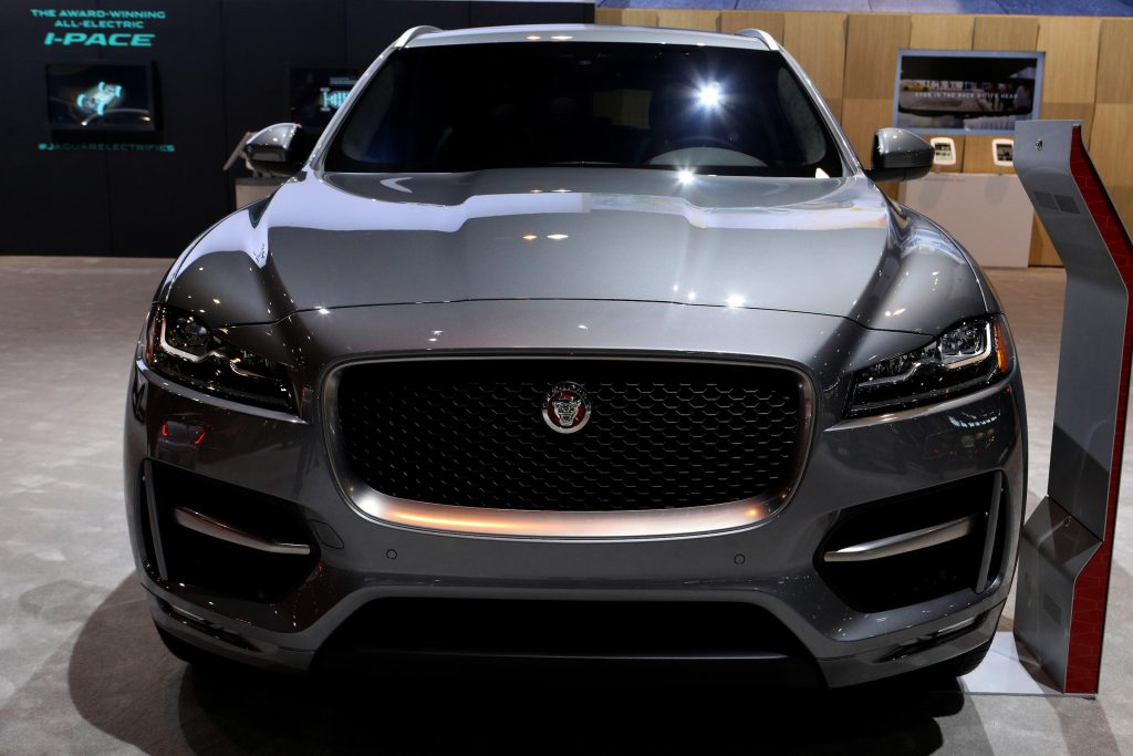 Gray 2020 Jaguar F-Pace is on display at the 112th Annual Chicago Auto Show