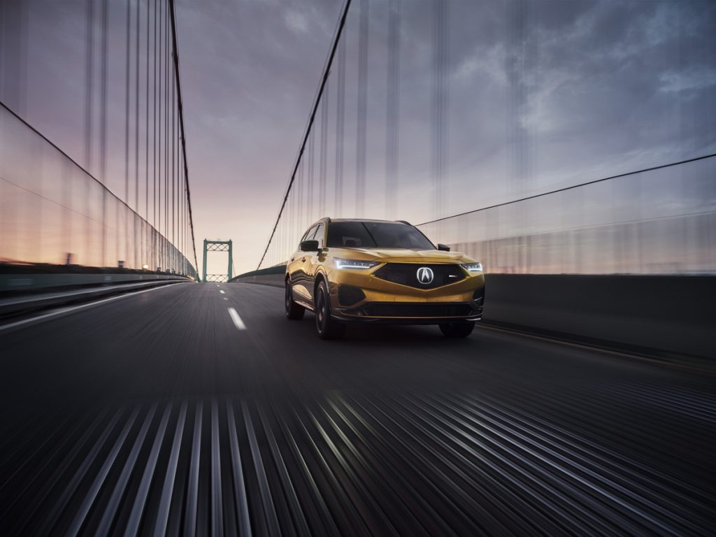 An image of a 2022 Acura MDX Type S parked outdoors.