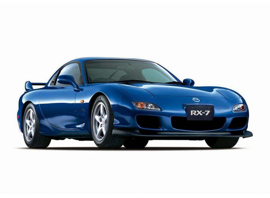a blue 1995 Mazda RX-7