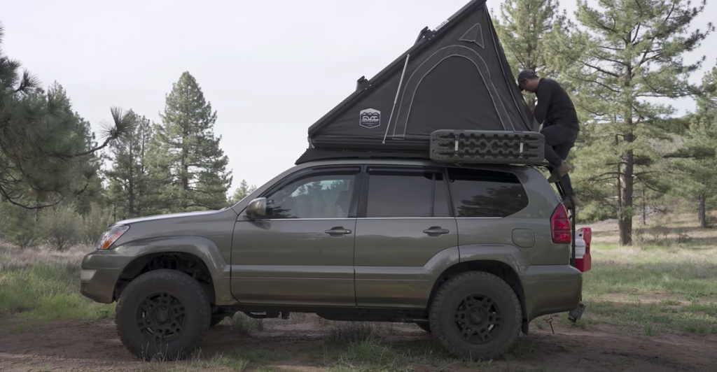 The rooftop tent on the GX470