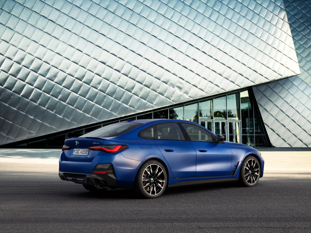 The rear of the new BMW i4 M50