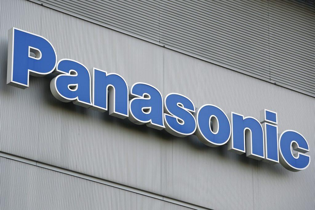 The Panasonic Corp. logo on the company's showroom in Tokyo, Japan.