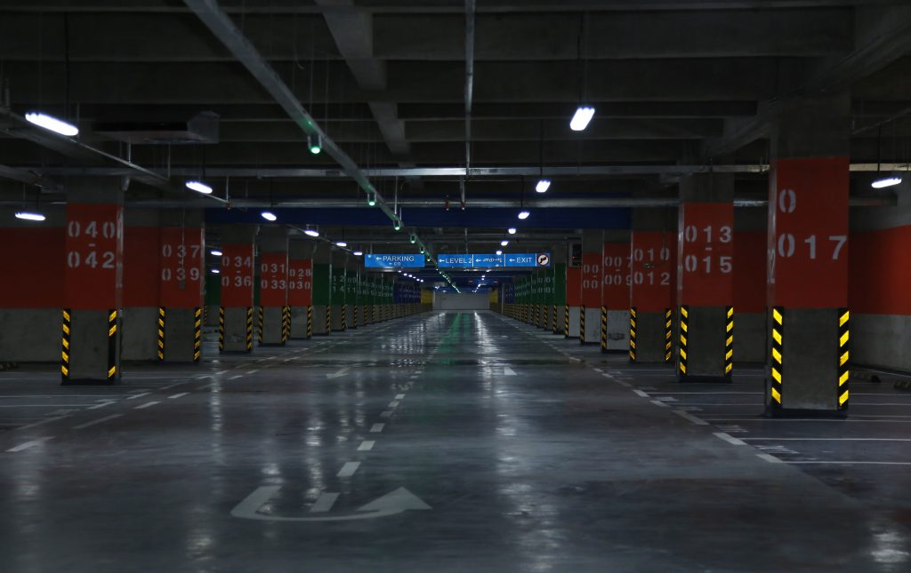 A view of parking garage in the Meskel Square during its inauguration ceremony in Addis Ababa, Ethiopia