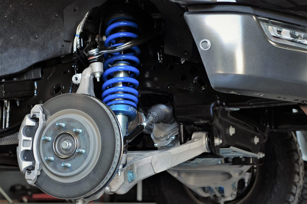 upclose shot of the PaxPower 2021 Alpha F-150 suspension setup