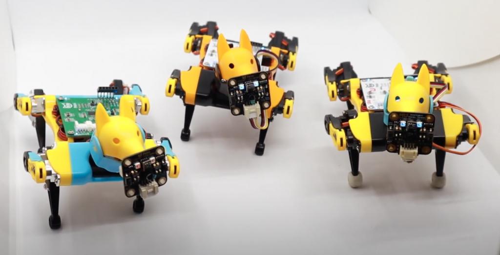 three Petoi Robot Dog Bittle