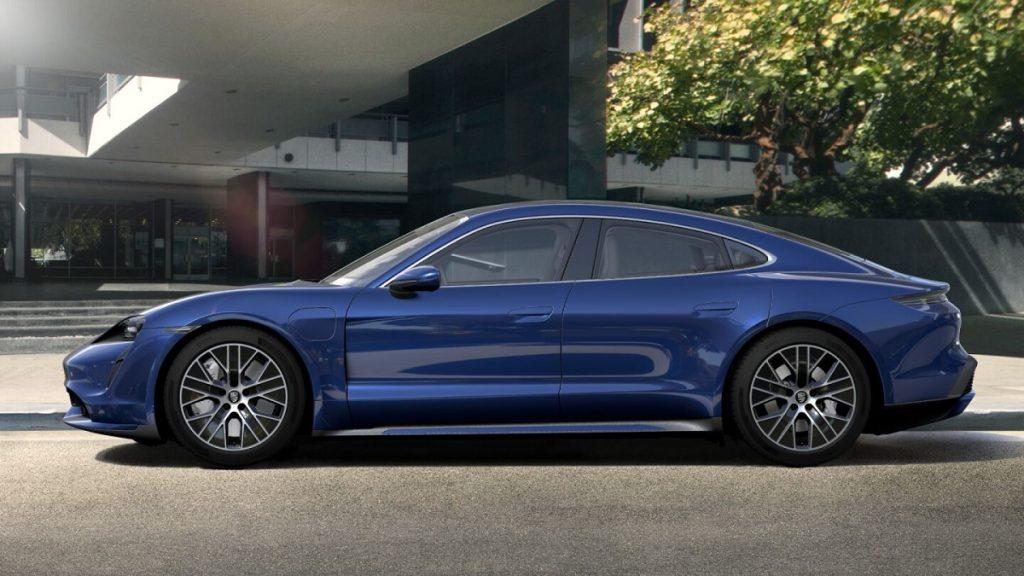 A blue 2021 Porsche Taycan | Porsche