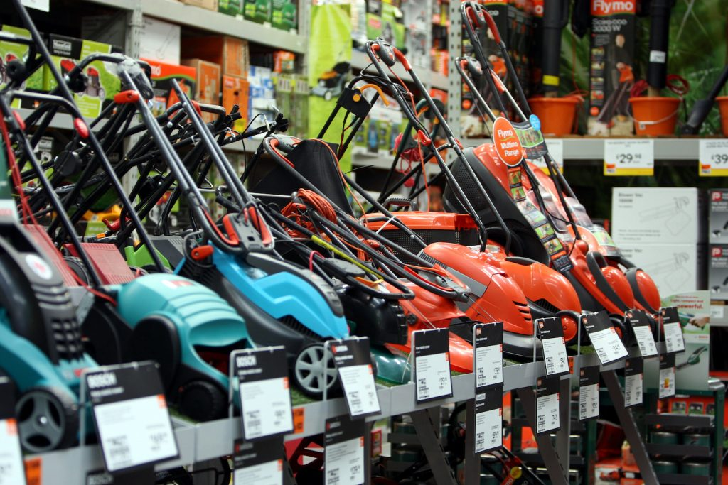 Push lawn mowers on display, Bob Vila highlighted several models as the best push lawn mowers