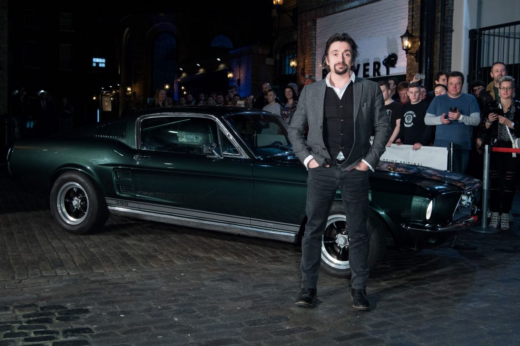Richard Hammond with his classic dark-green 1967 Ford Mustang at 'The Grand Tour' Season 3 premiere