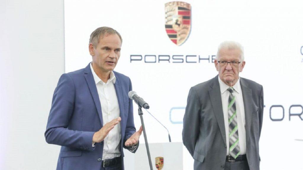 Oliver Blume speaks about Porsche's new EV battery company.