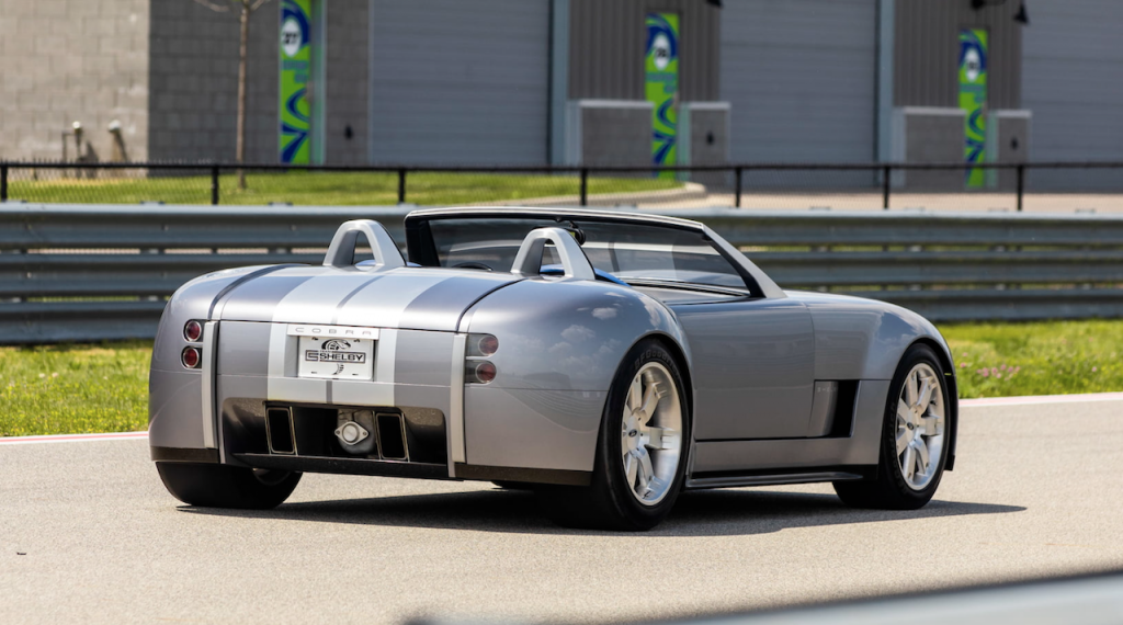 An image of a Ford Shelby Cobra Concept outdoors.