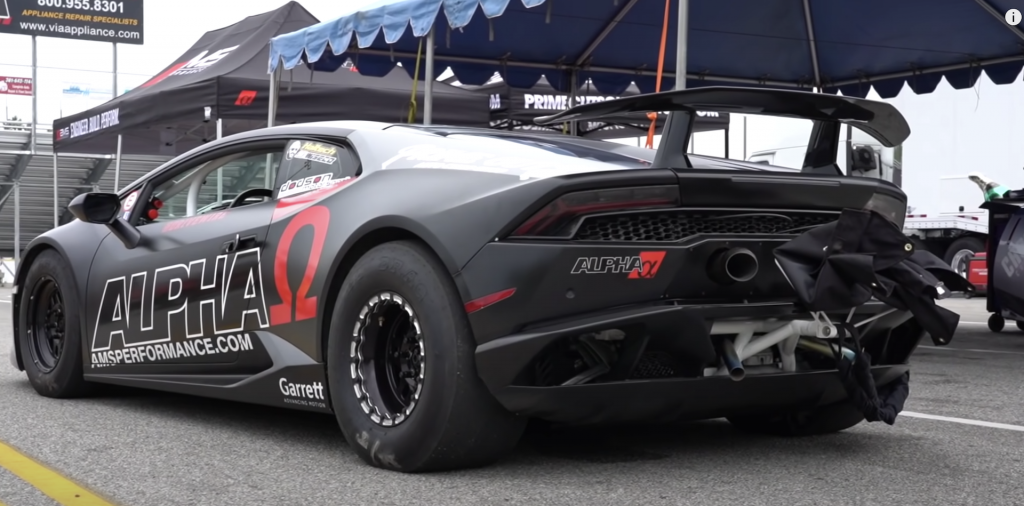 An image of a Lamborghini Huracan out on a race track.