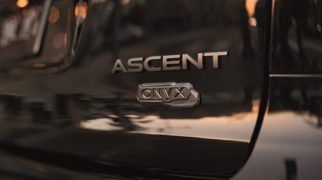 Onyx badge on a Subaru Ascent SUV