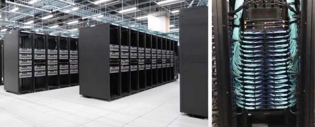 Tesla's new supercomputer takes up a huge amount of space.