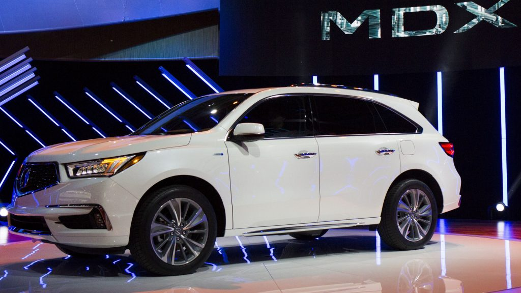 Acura MDX sports utility vehicle (SUV) is displayed during the 2016 New York International Auto Show in New York.