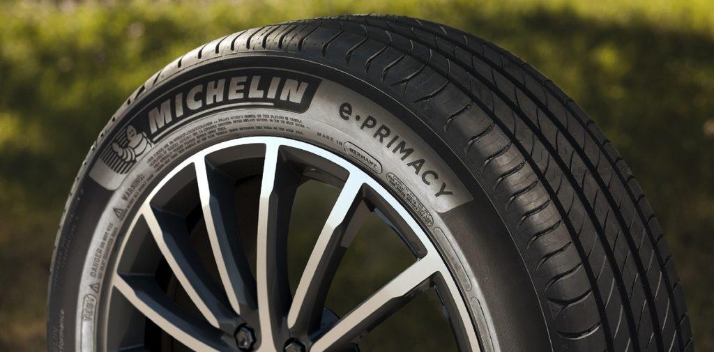 The Michelin e.Primacy carbon-neutral tire
