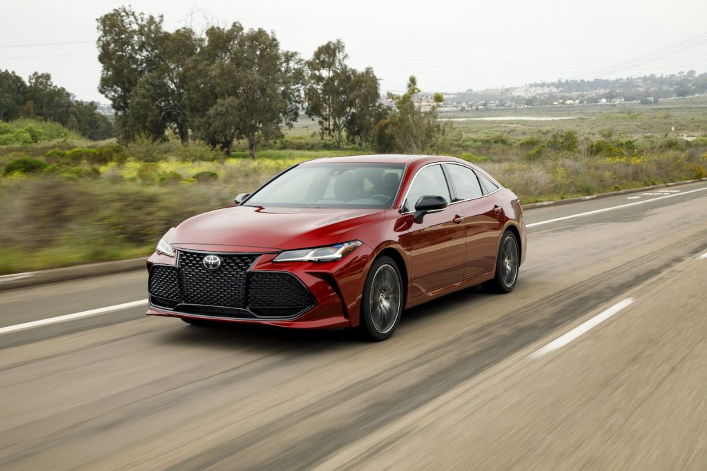 A red Toyota Avalon, the best new car under $50,000