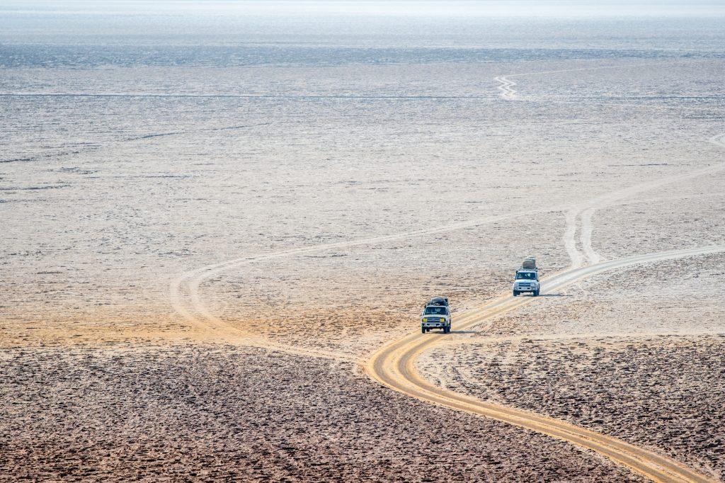 A group of Toyota Land Cruiser SUVs
