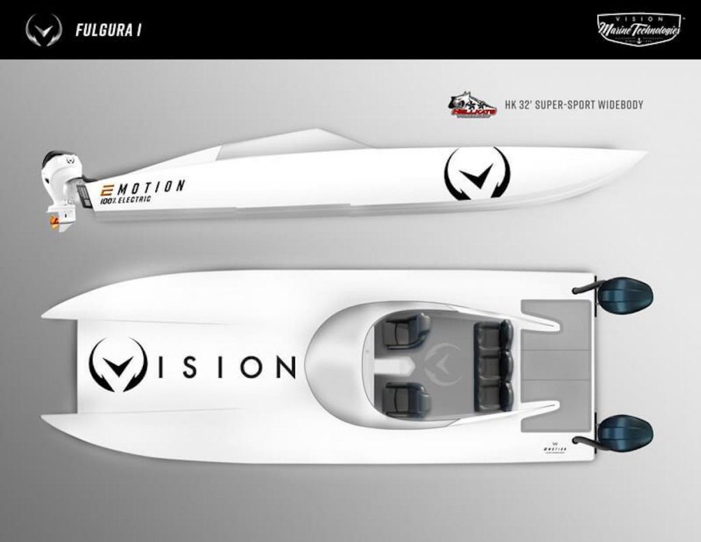 the Hellkats and Vision collaboration is going to make a run for the fastest electric boat world record