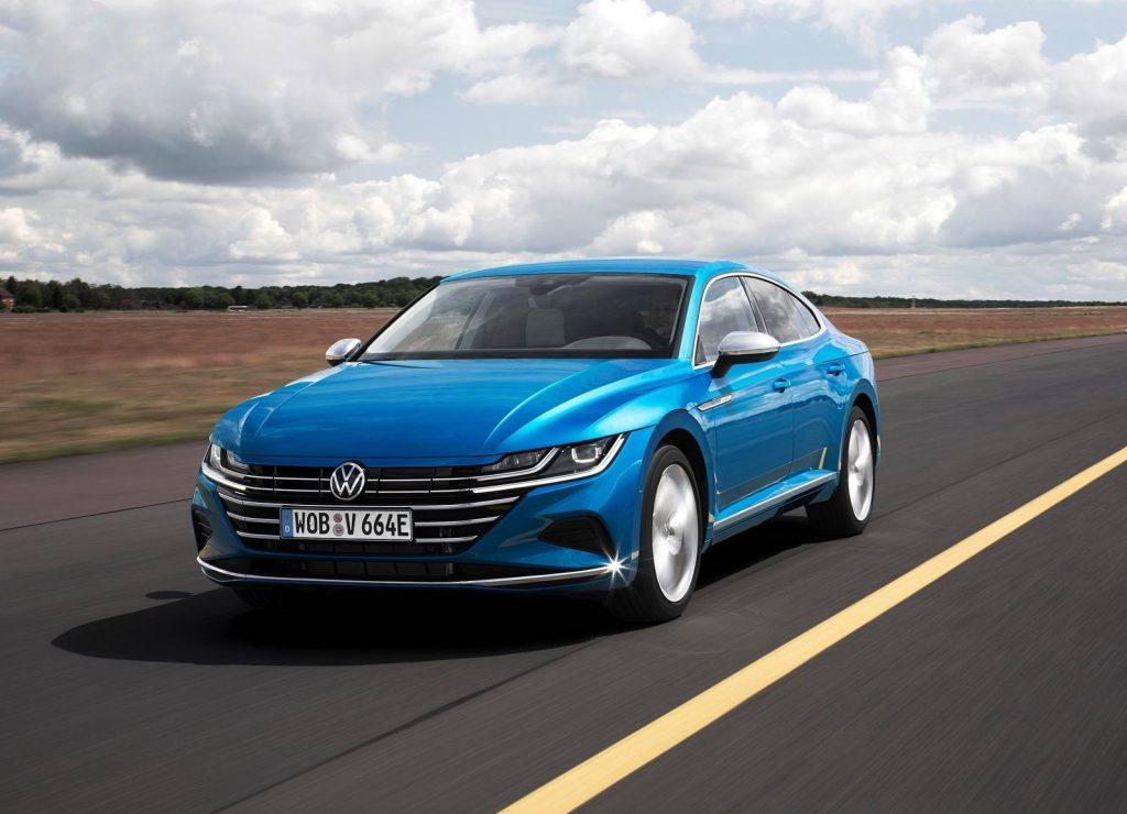 An image of a Volkswagen Arteon out on the road.