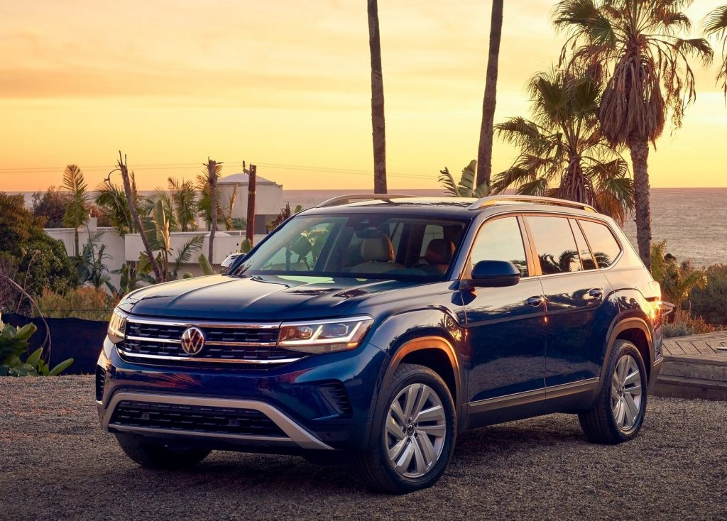 An image of a Volkswagen Atlas, one of the most discounted new SUVs according to Consumer Reports.