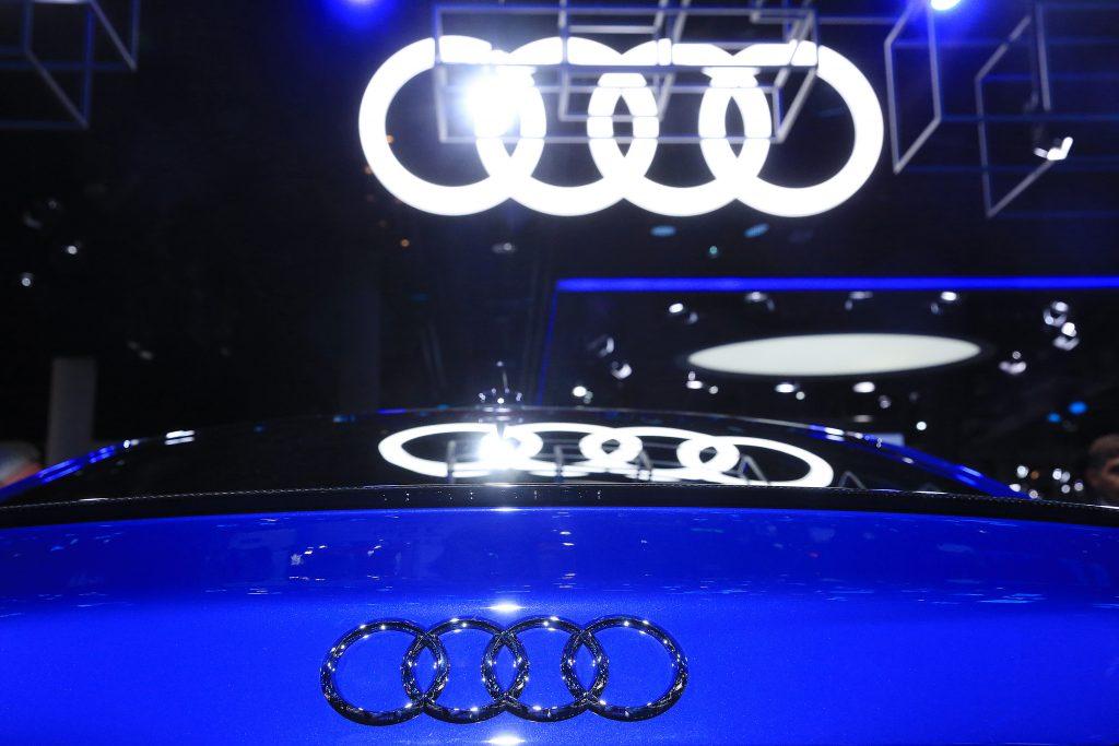 Audi badge on an audi vehicle