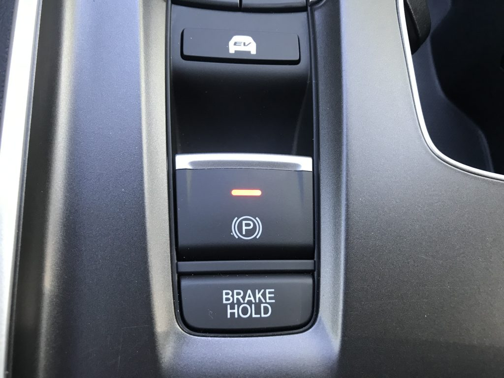 Brake hold button in the 2021 Honda Accord