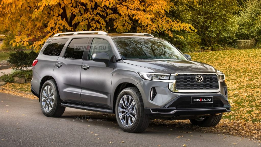 The possible new look of the 2022 Toyota Sequoia